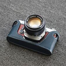 Genuine Leather Half Case Handmade for Olympus OM1 234 Camera Retro Style Cover