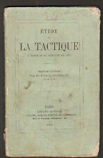 ETUDE sur la TACTIQUE . ARMEE de PRUSSIE ,CAMPAGNE 1866
