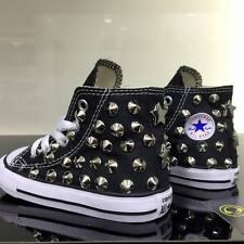 Converse All star Nere Alte Bambina / o personalizzate con borchie argento stel
