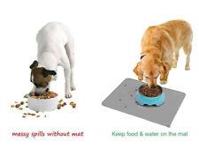 Pet Dog Cat Water Drinking Bowl Mat Kitchen Silicone Anti Skid Rug Food Dish Pad