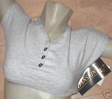 NWT Danskin Tee Shirt Sport Bra Top in Heather Mist-Sm