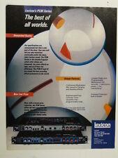 vintage magazine advert 1984 LEXICON PCM