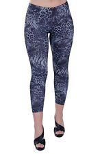 Da Donna Animal Print Casual Skinny Fit Stretch Capri Pantaloni Leggings Pantaloni