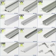 ✅ 1m LED Aluprofil eloxiert für LED Streifen / Alu Profil Schiene Lichtleiste