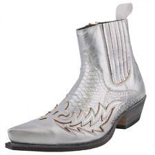 SENDRA BOTAS BOTAS DE Hombres Botines python-leder Botas Zapatos Hombre Plata