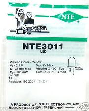 Nte Nte3011 (2-PACK) Discrete Yellow LED Indicator T1 Replaces Ecg3011