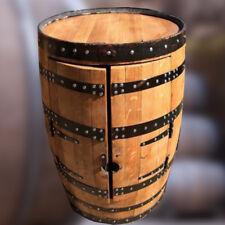 "Solid Oak Whisky Barrel ""Balmoral"" Wine Rack and Drinks Cabinet"