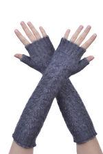 New Zealand Possum Fur Merino Wool Knitwear Cable Glovelet