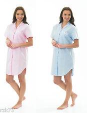 Ladies Spots Seersucker Nightshirt, Nighty Dress Nightwear, Size 10-20, RZK748