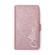 hairyworm blanc personnalisé nom sur rose cuir paillettes porte-feuille