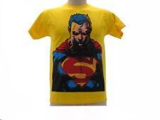 T-shirt Original Superman buste l'homme et femme unisexe jaune officiel jersey