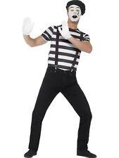 Mime Artist Mens Fancy Dress Costume Outift Dressup#