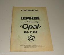 Teilekatalog / Ersatzteilliste Lemken Anbau Volldrehpflüge Opal 180-X 180