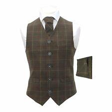 Heritage Check Regency Green Men's Waistcoat & Matching Tie & Pocket Square