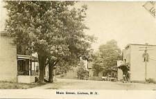 RPPC NY Lisbon Post Office Store Main Street 1907 St Lawrence County