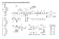 Ricambi e accessori per aerografo Paasche V e VJR - SCEGLI IL RICAMBIO