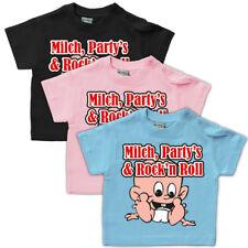 Baby T-Shirt Milch Partys Rock'n Roll Gr. 62-104 geschenk geburt sprüche lustig