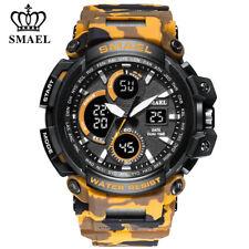 SMAEL Sport Watch Man Digital LED Quartz Wristwatch Big Dial Shockproof Watches