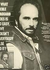 MERLE HAGGARD 1984 Promo Ad IF IT'S SO EASY....