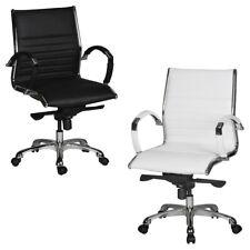 FineBuy FRED 2 silla de oficina silla de cuero silla giratoria silla ejecutiva