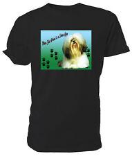 Lhasa Apso Dog T shirt, Mans Best Friend - Choice of size & colours.