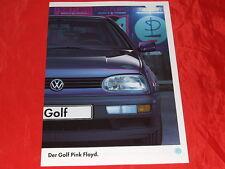 """VW Golf III """"Pink Floyd"""" Sondermodell Prospekt von 1995"""