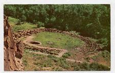 Near Santa Fe Nm Old Indian Ruins Old Postcard Pc3200