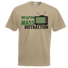 Da Uomo Kaki ARMA DI MASSA distrazione T-shirt verità Cercatore Conspiracy T-shirt