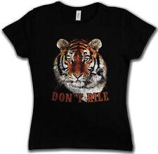 DON'T RILE T-SHIRT Fur Tiger Head White Animal Wildlife Africa Welfare Cat