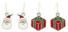 Zest 2 Pares De Navidad pendientes para orejas perforadas
