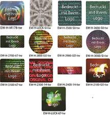 Hologramm-Aufkleber, Siegel Aufkleber, Hologramm Etikett, weiß bedruckt von EW