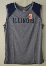 Camp David NCAA Breeze Womens Sleeveless Mesh Panel Tee Illinois Illini Blue