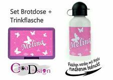 Brotdose Pausenbox Brotbox mit Namen Trinkflasche Alutrinkflasche Reh Rehkitz