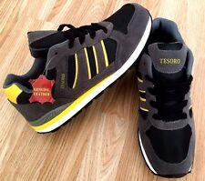 Buy1Get2ndHalfPrice LEATHER Men Shock Running Jogging Walk Trainer Gym Shoe Size