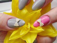 3d Nail Art * Plata Marfil Perlas Curvo Arcos * boda de aleación metálica Decoración