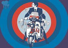 Poster Vintage Mods A1/A2/A3 & A4 Impresión - 005