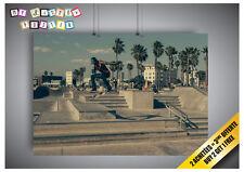 Poster Skateboard Jump Miami