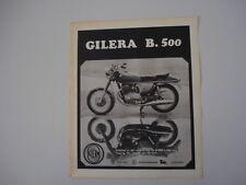 advertising Pubblicità 1969 MOTO GILERA B. 500
