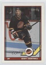1991-92 O-Pee-Chee #305 Geoff Courtnall Vancouver Canucks Hockey Card