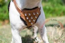 Elegante pettorina per cuccioli o cani di taglia piccola, in pelle naturale