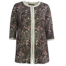 MARINA RINALDI Women's Bordeaux Cento Floral Eyelet Shortcoat $670 NWT