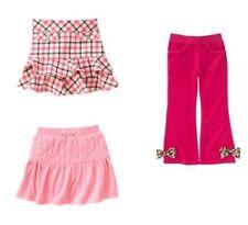 NWT Gymboree Parisian Chic velour pants 7 pink skirt 3 or brown plaid skirt 5T