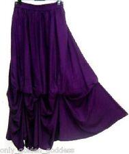purple full maxi skirt balloon lagenlook OS M L XL 1X 2X 3X 4X one size plus