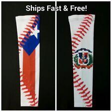 Sports Arm Sleeves Compression Arm Sleeve Anti-Slip Baseball PR & DR Flag