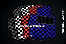 DRAGintMATS JDM Checkered Floor Mats Mitsubishi Lancer Evo X 10 Karo LHD MR