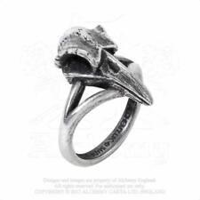 Alchemy Gothic Pewter Rabeschadel Kleiner Little Raven Skull Ring UK Made R220