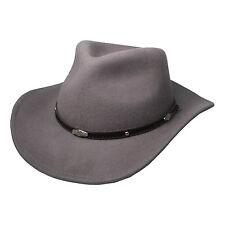 Mens Gris Reino Unido Nueva Alta Calidad Cuero con sombrero de ala ancha Accesorio 39004-10