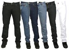 Mens Skinny Stretch Jeans Pants Tight Slim Fit Jean Blue Black White Size 28-40