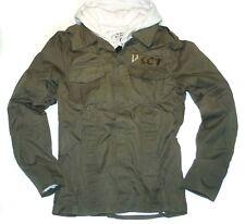 Jacke *Military Hybrid Look* Parka & Sweat Hoody *olive Sweatjacke *Neu by VSCT