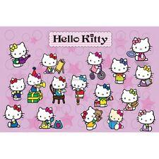 Stickers enfant planche de stickers Hello Kitty réf 9542